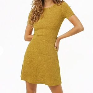 Forever 21 Heather Yellow Knit Dress Size Small